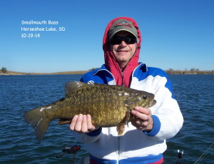 Smallmouth Bass, Horseshoe Lake, SD, 10-19-14