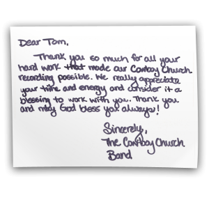 The Cowboy Church Band Testimonial
