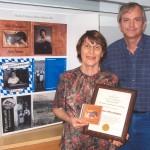 Maria shares her award, LeMars, IA 9/10