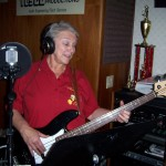 Sandy lays in the bass and vocals