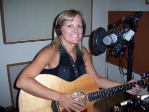 Carlene back in the studio