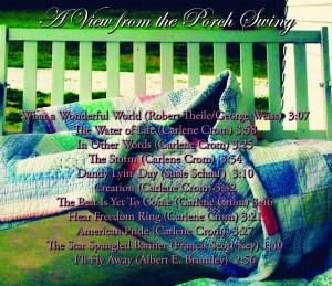 Carlene Crom - CD back artwork