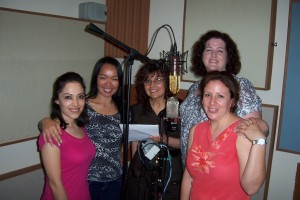 Anabel and friends record at Tesco Productions
