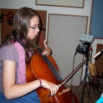 Alexa records cello at Tesco Productions