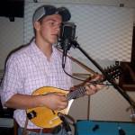 James recording mandolin at Tesco Productions