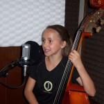 Julia singing at Tesco Productions