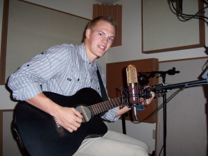 Justin Nordstrom adds guittar parts at Tesco Productions