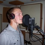 Justin Nordstrom records vocal at Tesco Productions