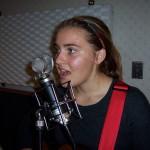 Sarah singing at Tesco Productions