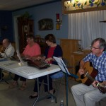 Tom playing acoustic with NE Zither Club in Oakland, IA