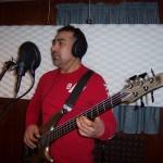 Eduardo records bass with Grupo David