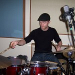 Mark Powers records drums at Tesco Productions