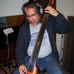 Steve Gomez records bass at Tesco Productions