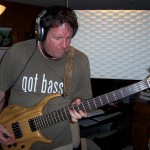 Bobb recording bass for Justin Wissink at Tesco Productions