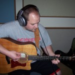 Justin Wissink recording acoustic at Tesco Productions