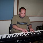 Justin Wissink records keys at Tesco Productions