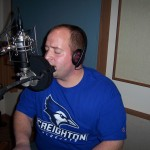 Justin Wissink records keys and vocals at Tesco Productions