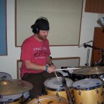 Steve playing drums for Justin Wissink at Tesco Productions