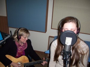 Carlene Crom & Emily B. record college demo at Tesco Productions