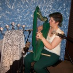 Grace with smaller harp and vocal ready to record.