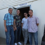Tom, Justin, Vinnie & Lyle wrapping up a recording session at Tesco Productions.
