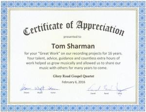 Glory Road honors Tesco Productions