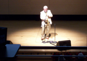Paul Falkowski plays sax at CIOH 2016 program.