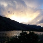 View while camping at Hells Canyon, Idaho