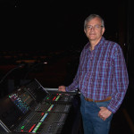 Tom Sharman at Yamah CL-5 Digital Audio Console for Home Instead Senior Care 2017 convention rehearsal.