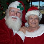 Mr. & Mrs. Clause greet guests at Christmas in our Hearts.